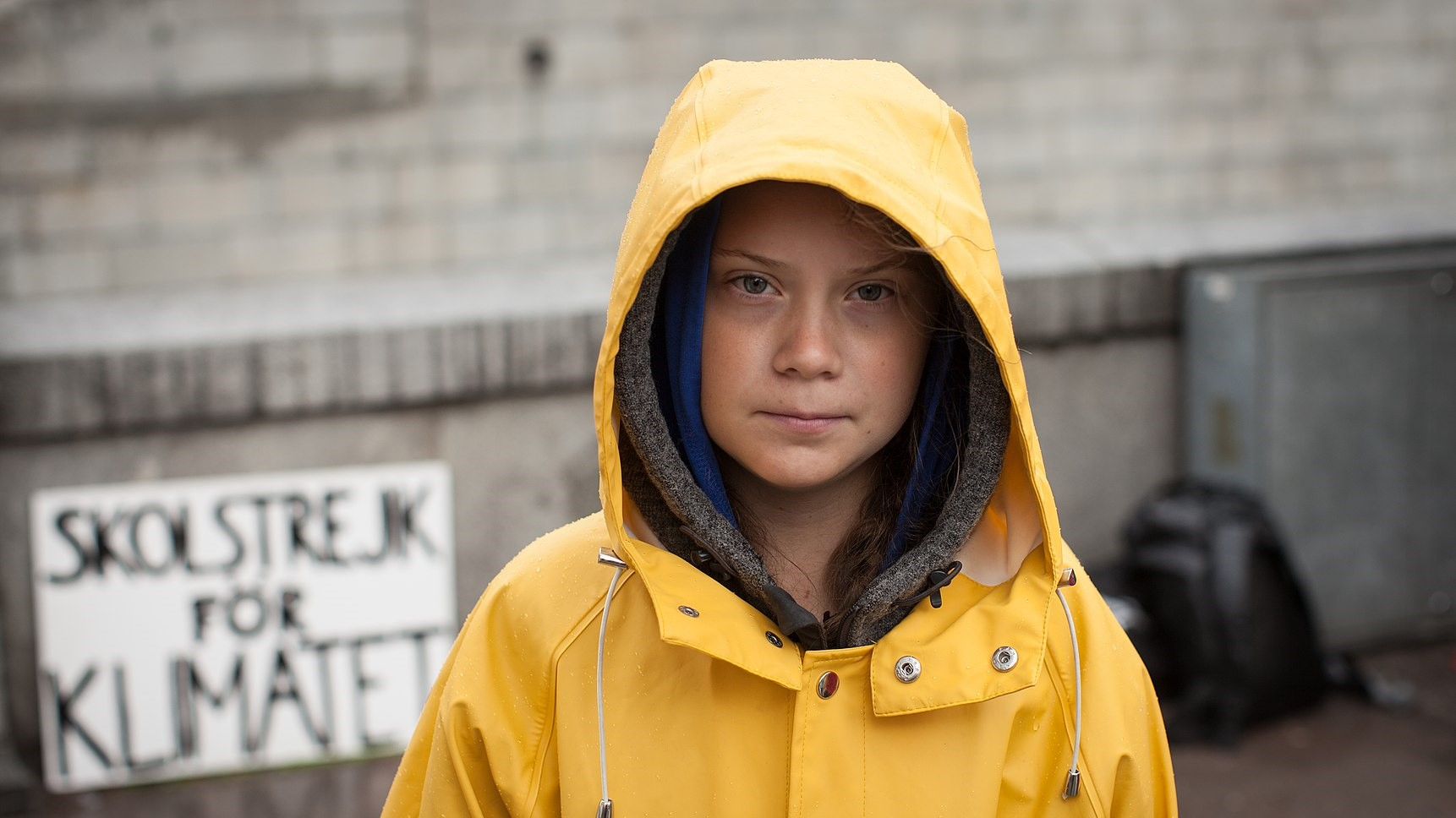Greta thunberg on the street